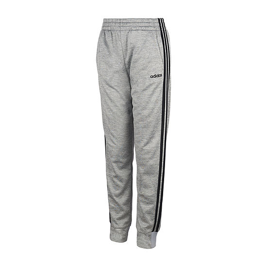 adidas Boys Performance Fleece Mid Rise Tapered Pull-On Pants - Big Kid