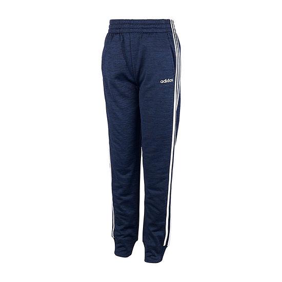 adidas Boys Performance Fleece Mid Rise Cuffed Pull-On Pants - Big Kid