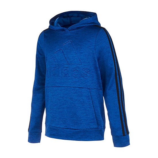 adidas Performance Fleece Boys Hoodie-Big Kid