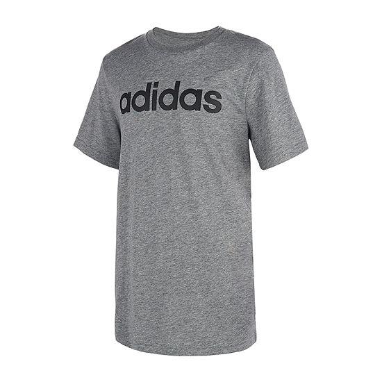 adidas Boys Crew Neck Short Sleeve T-Shirt-Big Kid
