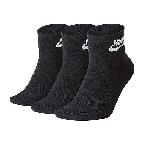 Nike 3 Pair Quarter Socks-Mens