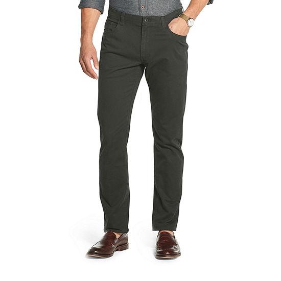 Van Heusen Never Tuck Mens Mid Rise Slim Fit Flat Front Pant