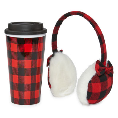 Mixit Adventure Plaid 2-pc. Ear Muff and Travel Mug Set