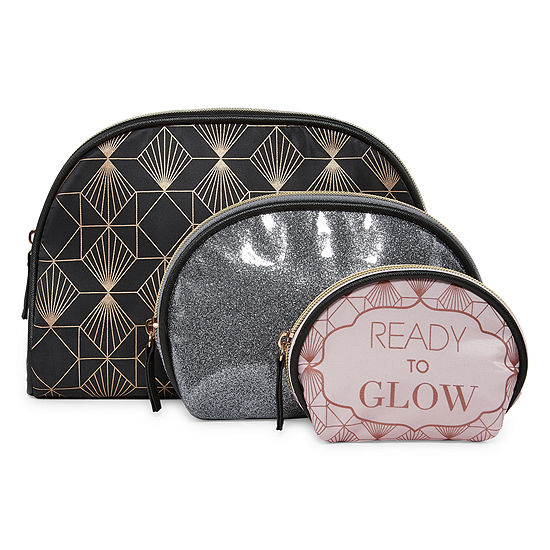 Mixit Girls Night 3-pc. Makeup Bag