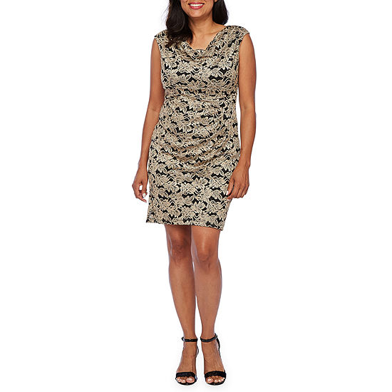 Scarlett-Petite Sleeveless Paisley Sheath Dress