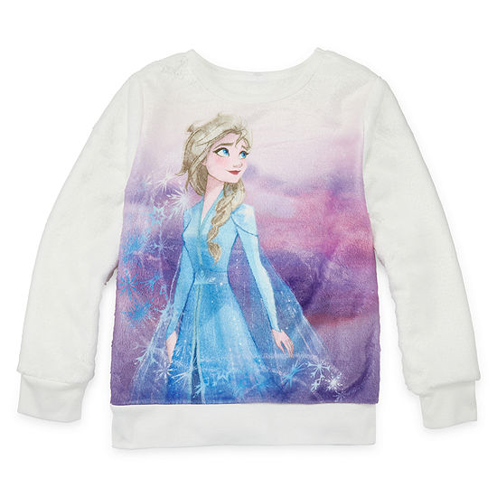 Disney Toddler Girls Crew Neck Long Sleeve Frozen Sweatshirt