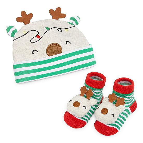 Okie Dokie Christmas Boys 2-pc. Baby Hat