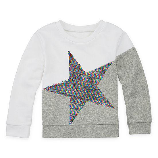 Arizona Girls Round Neck Long Sleeve Sweatshirt