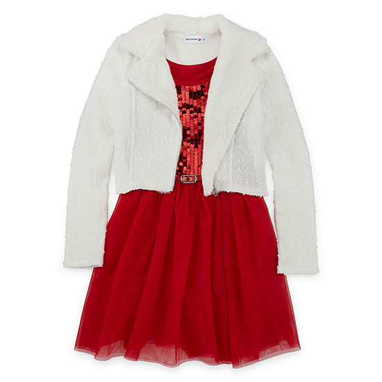 Knit Works 2-pc. Jacket Dress - Big Kid Girls