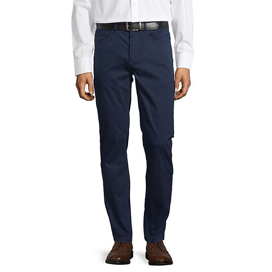 Claiborne Mens Slim Fit Flat Front Pant