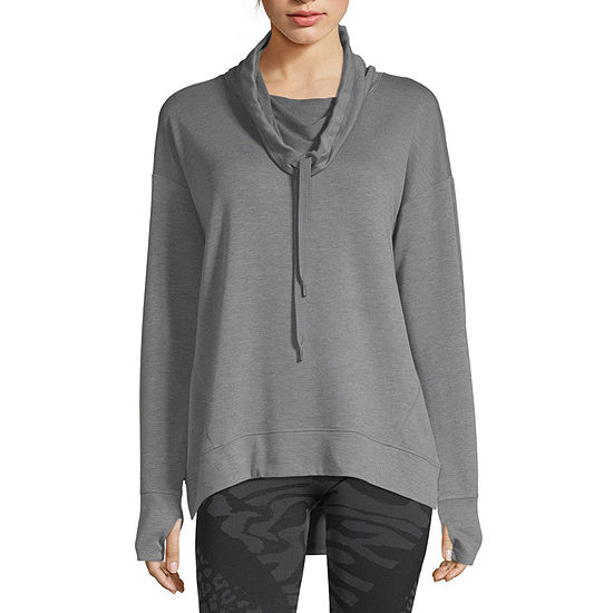 Xersion Womens Cowl Neck Long Sleeve Sweatshirt