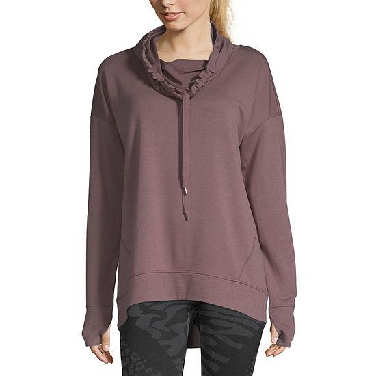 Xersion Womens Cowl Neck Long Sleeve Sweatshirt