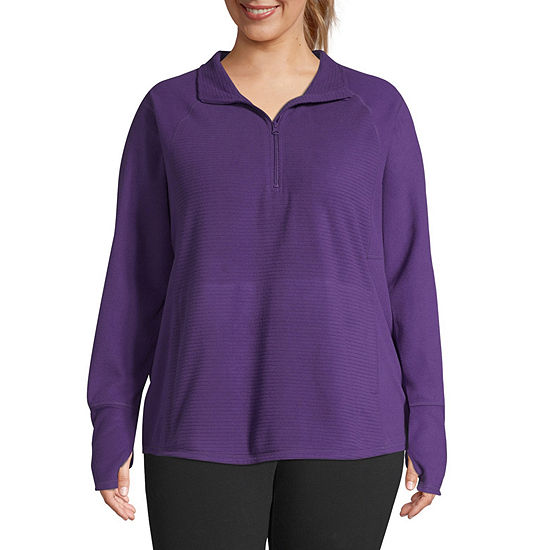 St. John's Bay Active-Plus Womens Mock Neck Long Sleeve Pullover Sweater