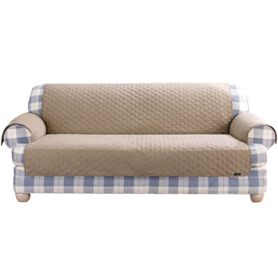 SURE FIT® Cotton Duck Sofa Pet Furniture Cover
