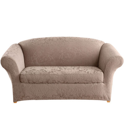 SURE FIT® Stretch Jacquard Damask 2-pc. Loveseat Slipcover