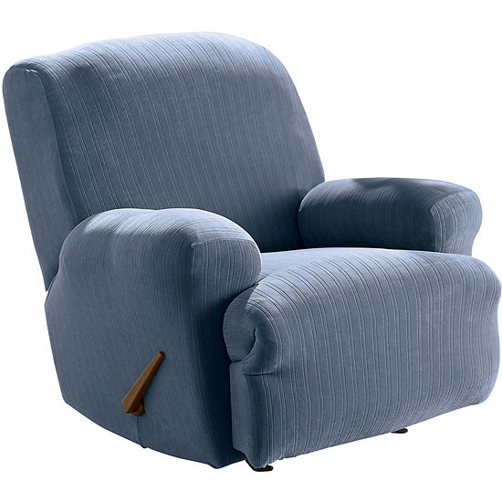 Sure Fit Stretch Pinstripe 1 Pc Recliner Slipcover