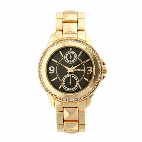Geneva Womens Gold Tone Bracelet Watch-Jcp2964