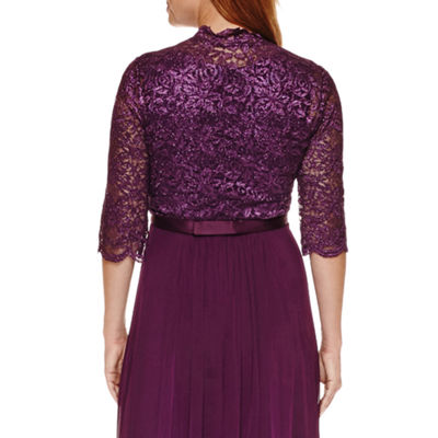 R & M Richards Lace Bolero Jacket Dress