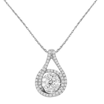 LIMITED QUANTITIES! 1/2 CT. T.W. White Diamond Round 10K Gold Pendant