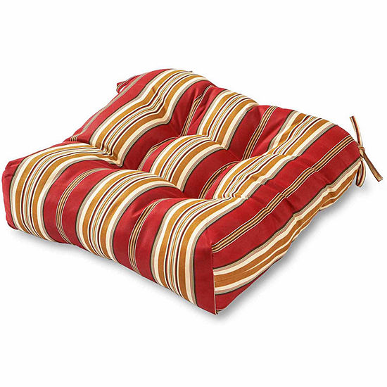 "Greendale Home Fashions 20"" Stripe Outdoor Dining Seat Cushion"""