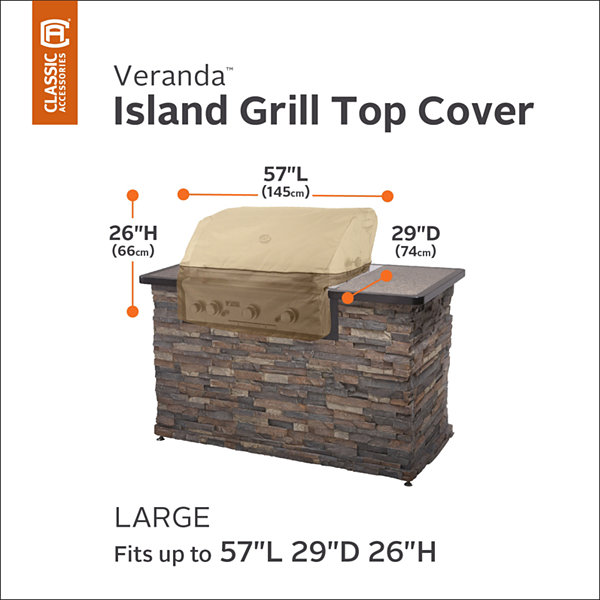 Classic Accessories® Veranda Island Grill Top Cover Large
