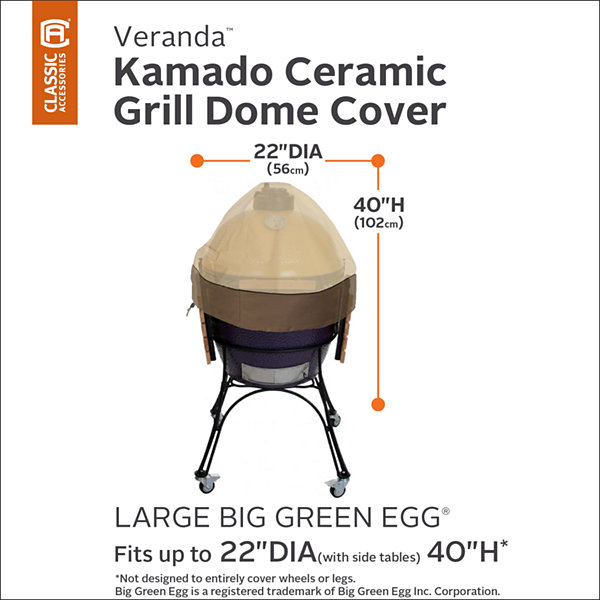 Classic Accessories® Veranda Kamado Ceramic Dome Grill Cover Large