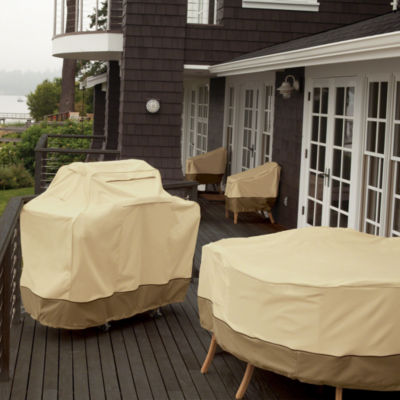 Classic Accessories® Veranda Square Full Coverage Fire Pit Cover Small