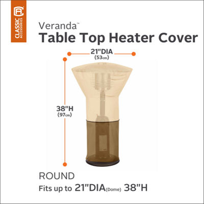 Classic Accessories® Veranda Round Table Top Heater Cover