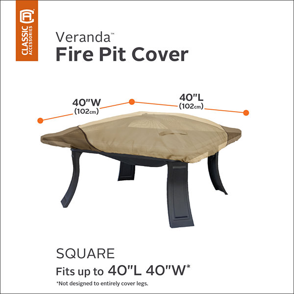 Classic Accessories® Veranda Square Fire Pit Cover