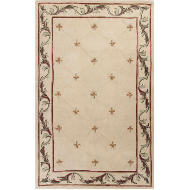 jcpenney.com | Fleur de Lis Hand-Carved Wool Rug Collection