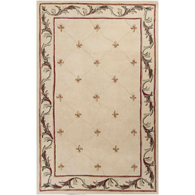 Jcpenney Fleur De Lis Hand Carved Wool Rug Collection