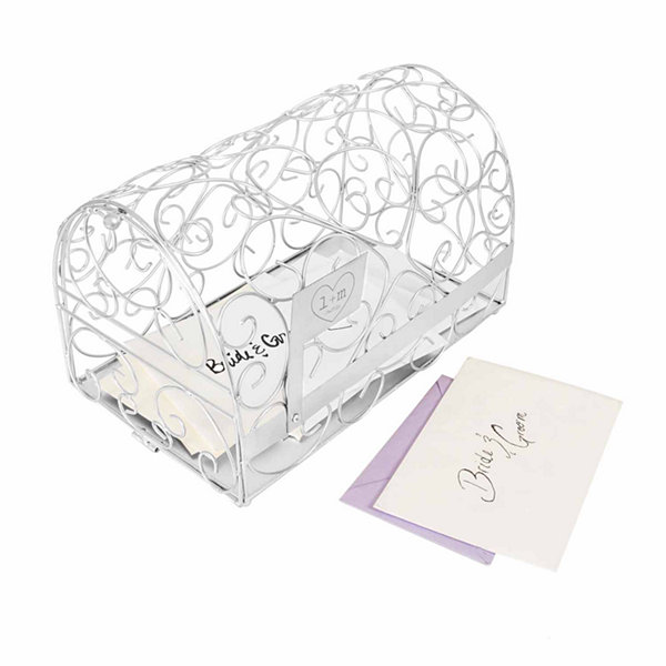 Personalized Silver Heart Gift Card Holder
