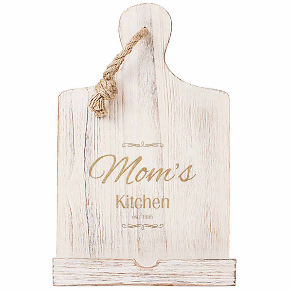 Cathy's Concepts Personalized Mother's Day Wooden iPad & Recipe Stand