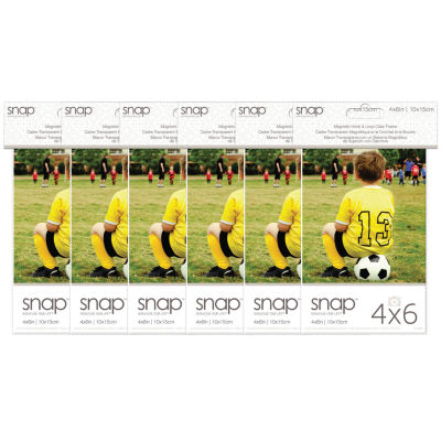 """Snap 4x6"""" Magnetic Acrylic Frame- Set of 6"""""""