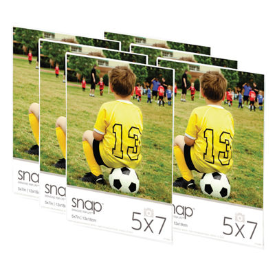 "Snap 5x7"" Magnetic Acrylic Frame- Set of 6"""