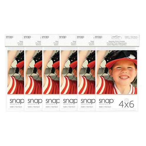 """Snap 4x6"""" Magnetic Photo Pocket Frames 2 Pack"""""""