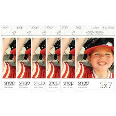 """Snap 5x7"""" Magnetic Photo Pocket Frames 2 Pack"""""""