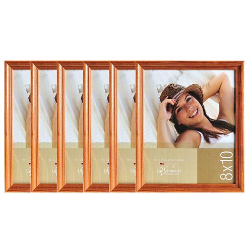 "Life Moments 8x10"" Natural Wood Frame- Set of 6"""