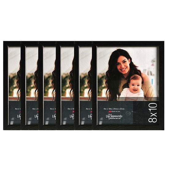 "Life Moments 8x10"" Black Wood Frame- Set of 6"""
