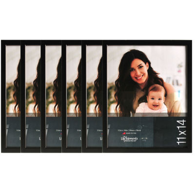 "Life Moments 11x14"" Black Wood Frame- Set of 6"""
