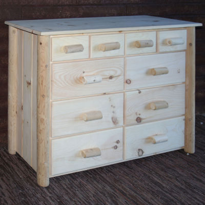 Frontier Pine 10-Drawer Dresser