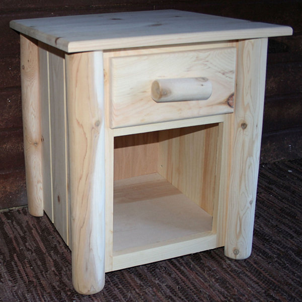 Frontier Pine 1-Drawer Nightstand