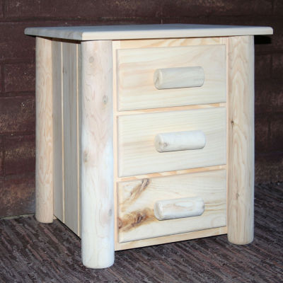 Frontier Pine 3-Drawer Nightstand