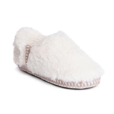 Muk Luks Joana Fur Moccasin Slippers