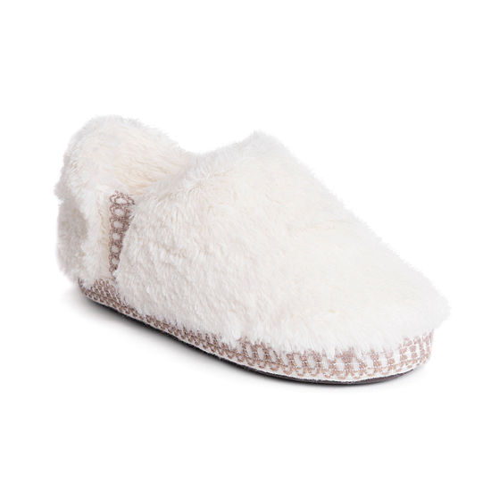 Muk Luks Joana Fur Womens Moccasin Slippers