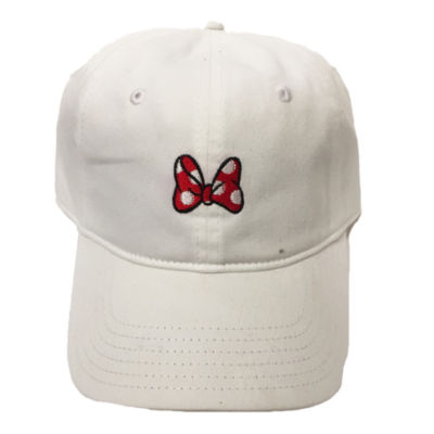 Minnie Mouse Bow Embroidered Baseball Cap