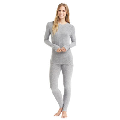 Cuddl Duds Sweaterknit Thermal Shirt