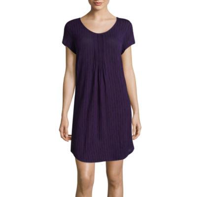 Ambrielle Short Sleeve Dots Nightshirt