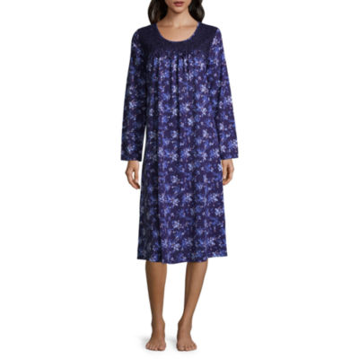 Adonna Long Sleeve Knit Long Nightgown