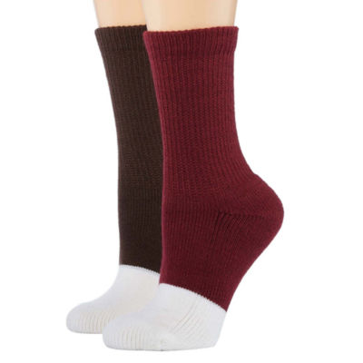 Berkshire Fashions 2 Pair Crew Socks - Womens